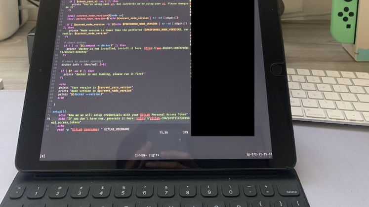 Cover image for Frontend development dari iPad